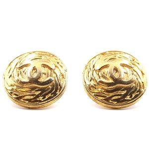 Cc Huge Xxl Large Oversized Round Clip On Earrings
